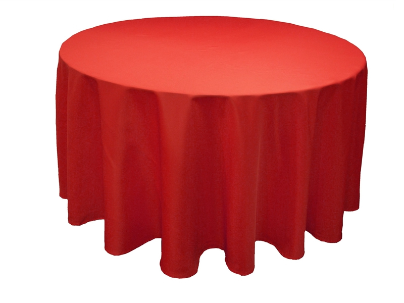 Red - Table ronde nappe ...